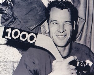 Gordie Howe was one of the combatants in the only fight in NHL All-Star Game history.