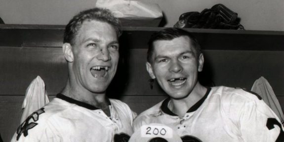 Bobby Hull and Stan Mikita