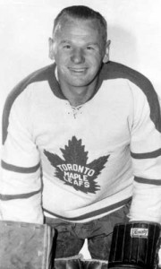 Johnny Bower - back on the Leafs' bench.