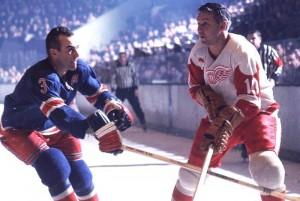 Rangers Harry Howell vs Red Wings Alex Delvecchio