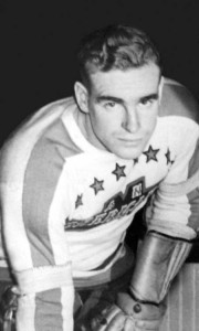 John (Peanuts) O'Flaherty during his playing days wih the NY Americans.