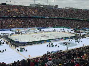 TCF Bank Stadium - Stadium Series Game Minnesota Wild Feb. 21, 2016 (Photo courtesy of Rick Rischall)