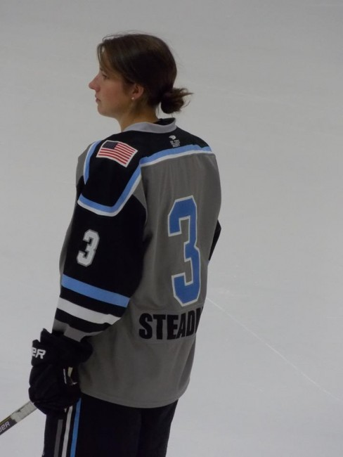 Kelley Steadman's return to the lineup boosted Buffalo to a Game 2 win (photo credit : Elaine Shircliff)