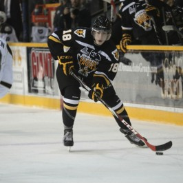 Pierre-Luc Dubois of the Cape Breton Screaming Eagles