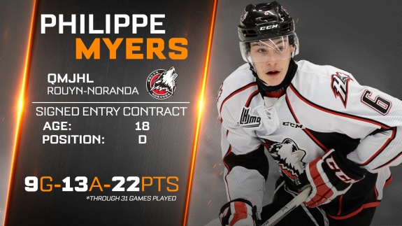 Philadelphia Flyers Philippe Myers