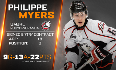 Philadelphia Flyers' Prospect Philippe Myers Making Big Strides
