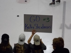 Kelley Steadman's biggest fans traveled from Pittsburgh for the All-Star Game (photo credit : Elaine Shircliff)