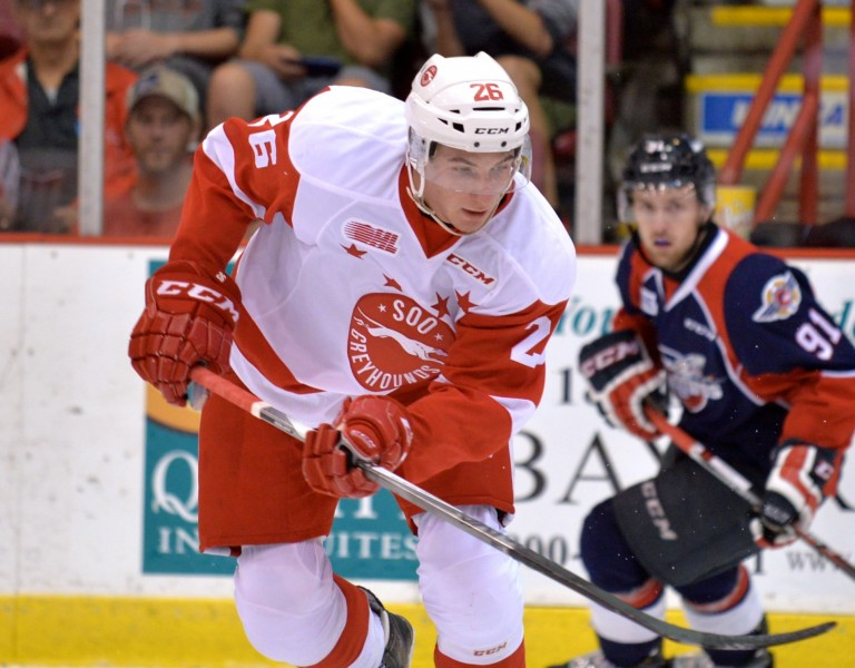 Tim Gettinger of the Sault Ste. Marie Greyhounds