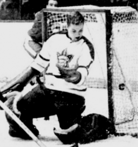 Leafs rookie goalie Gary Smith was beaten by this shot Sunday in Detroit.