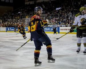 Alex Debrincat of the Erie Otters