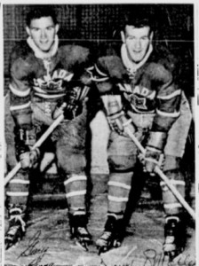 Canadian players Gary Begg and Terry O'Malley.