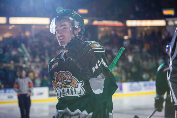 Patrick Bajkov of the Everett Silvertips