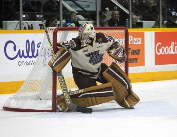 Dylan Wells of the Peterborough Petes