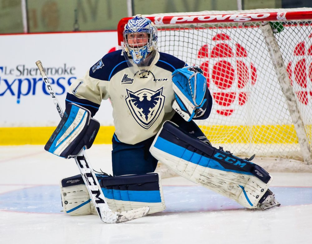 Evan Fitzpatrick of the Sherbrooke Phoenix