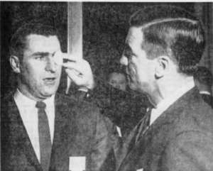 Ted Linsday takes a look at the eye patch sported by Floyd Smith