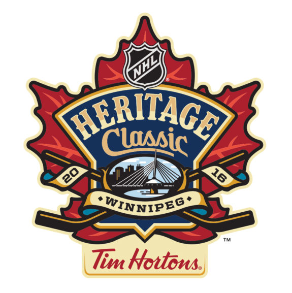 The official logo for the 2016 Heritage Classic.