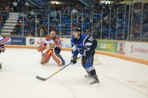 Luke Green of the Saint John Sea Dogs