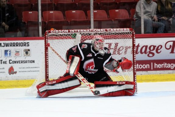 Zach Sawchenko of the Moose Jaw Warriors