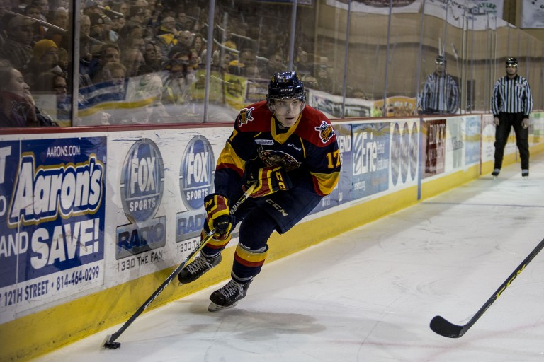 Taylor Raddysh of the Erie Otters
