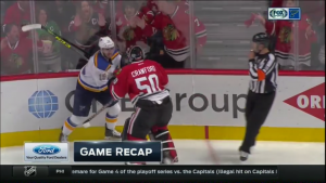 Crawford jumps Fabbri