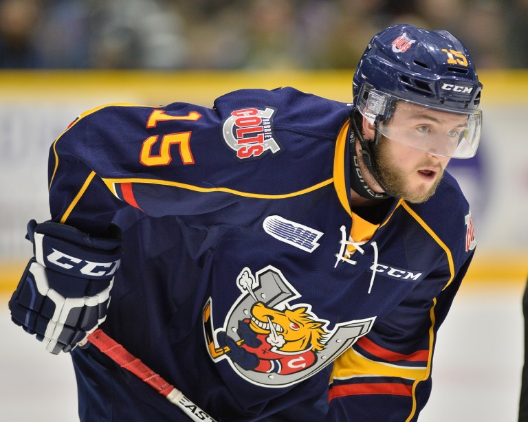 Dylan Sadowy of the Barrie Colts.