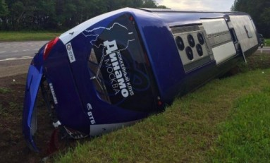 Breaking: Dynamo Moscow Bus Crashes (Video)