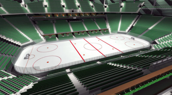 A rendering of what Chris Hansen's arena would look like for hockey. (Courtesy Sonics Arena)