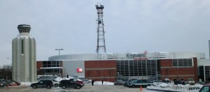 Outside the Essar Centre in Sault Ste Marie, Ontario. Photo Courtesy: Dave Jewell THW