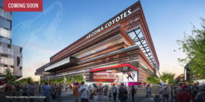 A rendering of a potential new rink for the Arizona Coyotes. Courtesy Arizona Coyotes