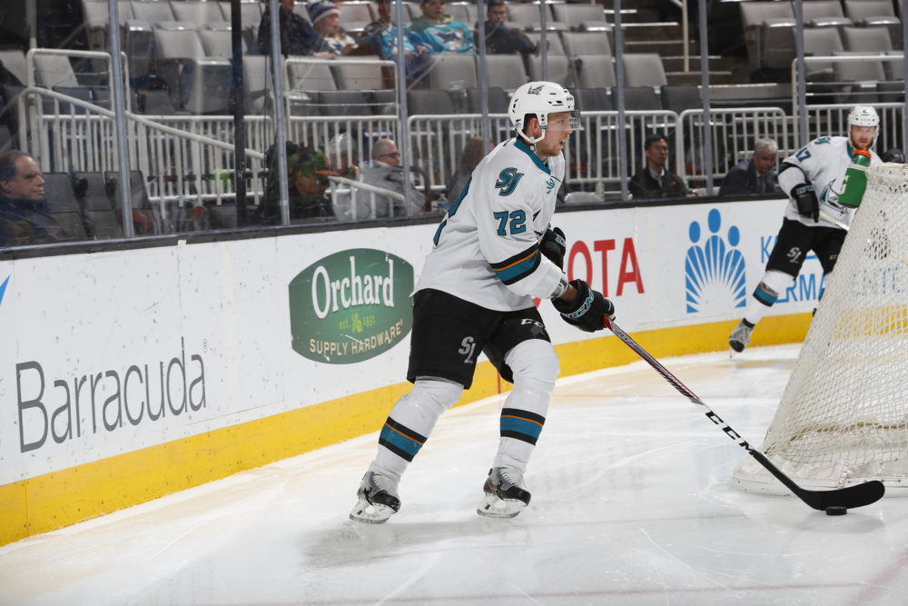 San Jose Barracuda defenseman Tim Heed (Scott Dinn/San Jose Barracuda)