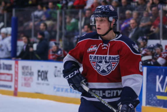 Juuso Valimaki, Flames Prospect playing for Tri-City Americans