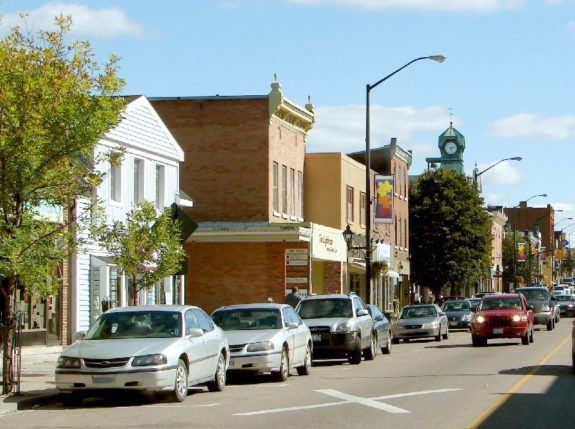 Picture credit to Wikipedia. A snapshot of Main Street in Renfrew, Ontario. The town boasts the claim of the birthplace of the NHA and NHL.