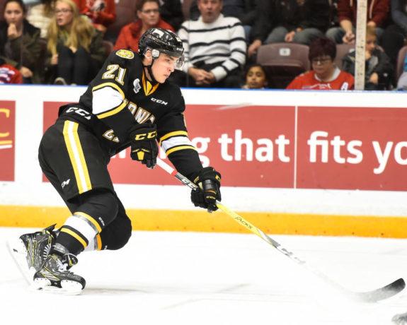 Adam Ruzicka, Sarnia Sting, OHL, Flames Prospect