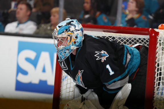 San Jose Barracuda goalie Troy Grosenick