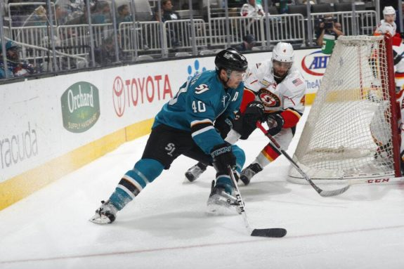 San Jose Barracuda forward Ryan Carpenter