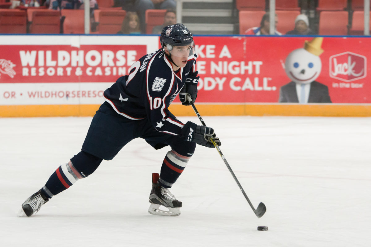Dylan Coghlan of the Tri-City Americans
