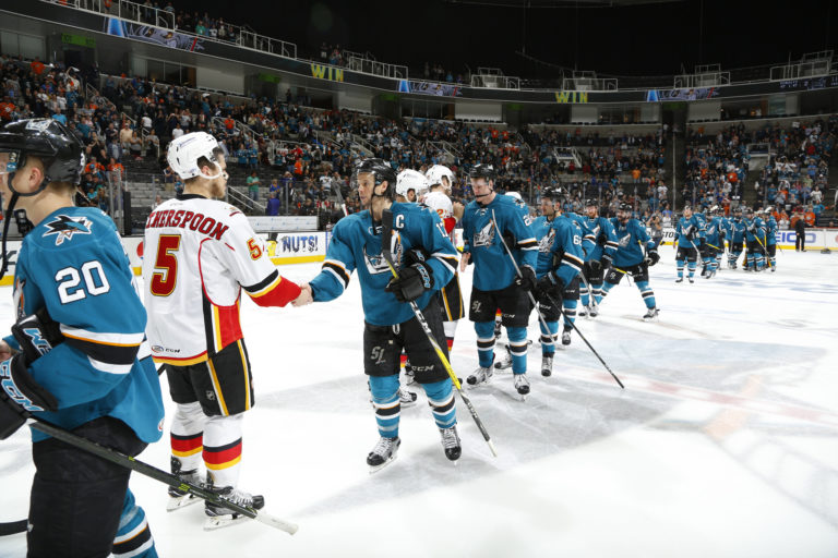 San Jose Barracuda defeat the Stockton Heat 3-2 in their Round 1 match-up