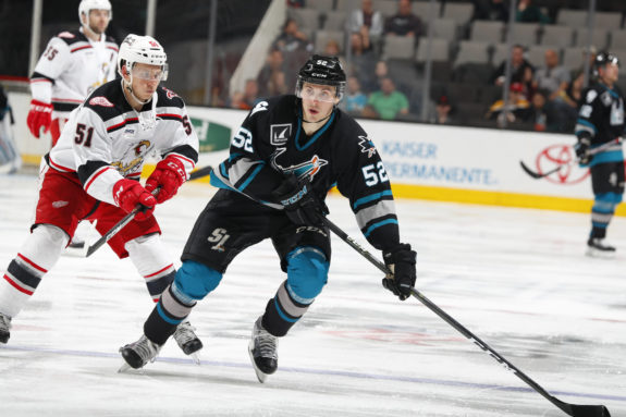 San Jose Barracuda forward Adam Helewka