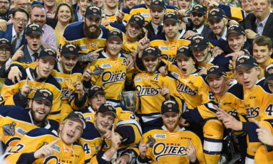 Celebrating the Erie Otters' OHL Championship