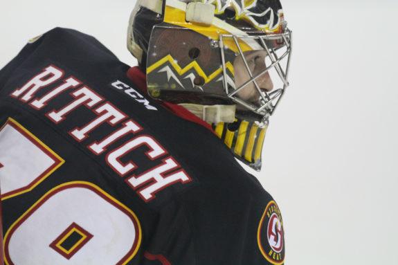 Calgary Flames goalie David Rittich