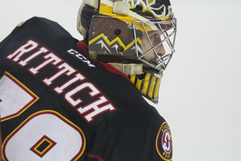Stockton Heat goaltender David Rittich