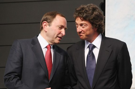 Gary Bettman and Daryl Katz
