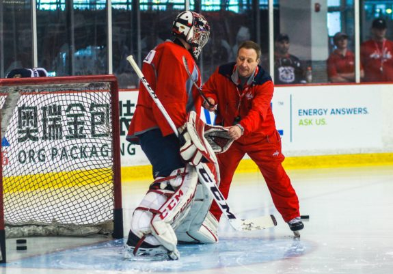 Former Washington Capitals and current New York Islanders goalie coach Mitch Korn.