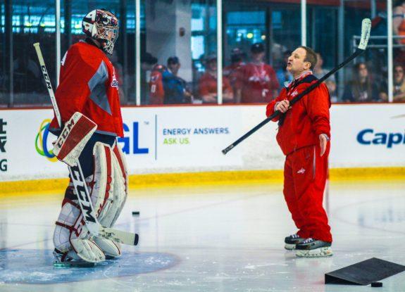 Islanders goaltending coach Mitch Korn