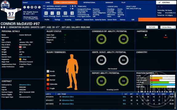 Player profile FHM4