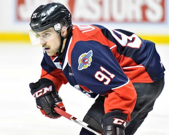 Aaron Luchuk, OHL, Windsor Spitfires