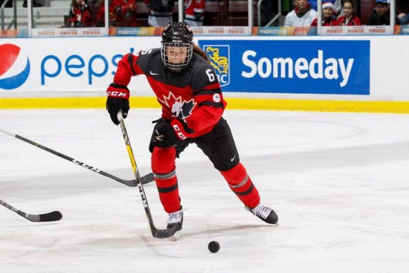 Rebecca Johnston Team Canada