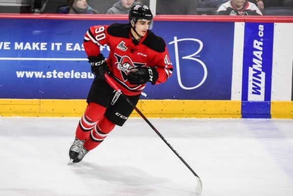 Drummondville Voltigeurs forward Joe Veleno