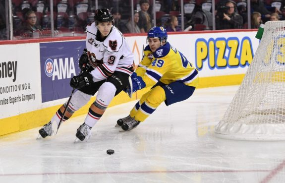 Egor Zamula of the Calgary Hitmen