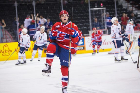 Filip Kral of the Spokane Chiefs